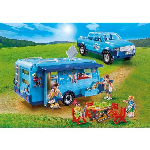 Playmobil 9502 Pick-up lakókocsival