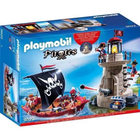 Playmobil 9522 Kalóz készlet világítótoronnyal és vitorlás kalózhajóval