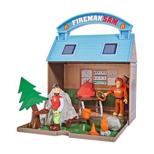 Simba Toys Sam, a tűzoltó - Hordozható hegyimentő központ 2 figurával (109251032038)