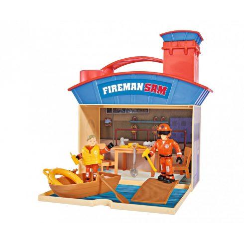 Simba Toys Sam, a tűzoltó - Hordozható vízimentő központ 2 figurával (109251033038)