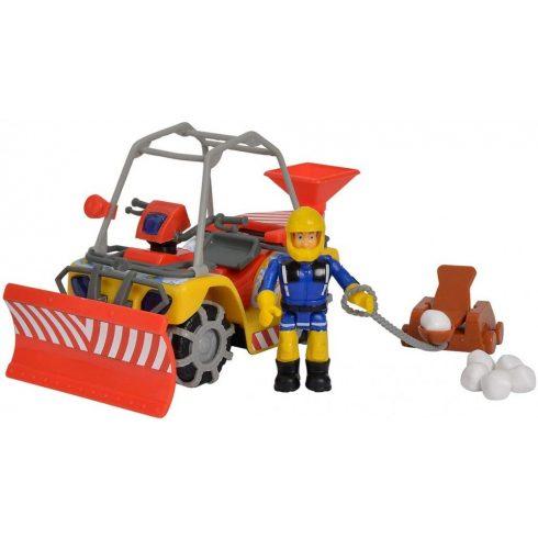 Simba Toys Sam, a tűzoltó - Mercury hókotró quad Sam figurával (109251049038)