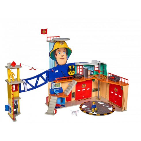 Simba Toys Sam, a tűzoltó - Mega XXL tűzoltó állomás Sam figurával (109251059038)