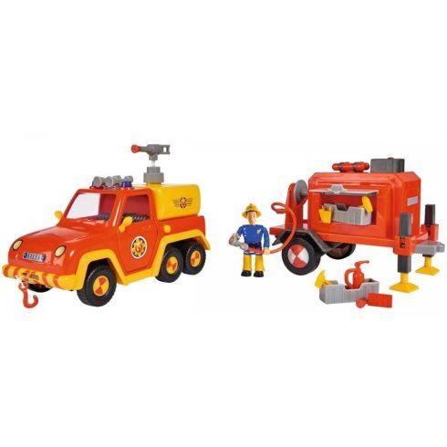Simba Toys Sam, a tűzoltó - Venus tűzoltóautó utánfutóval és Sam figurával (109251076038)