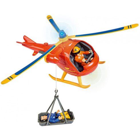 Simba Toys Sam, a tűzoltó - Wallaby mentőhelikopter Tom figurával (109251087038)