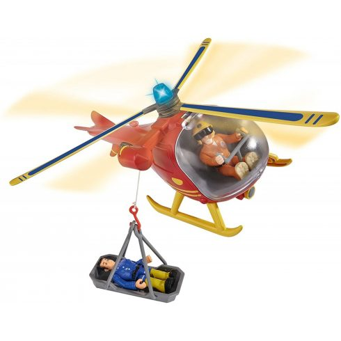 Simba Toys Sam, a tűzoltó - Wallaby mentőhelikopter Tom figurával (109251661038)
