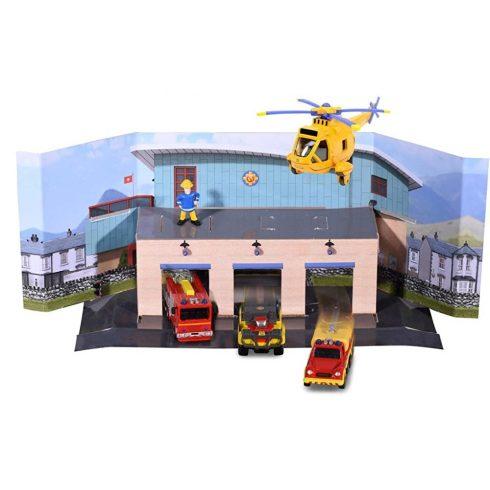 Dickie Toys Sam, a tűzoltó - Mentőcsapat készlet garázzsal és Sam figurával (203093007038)