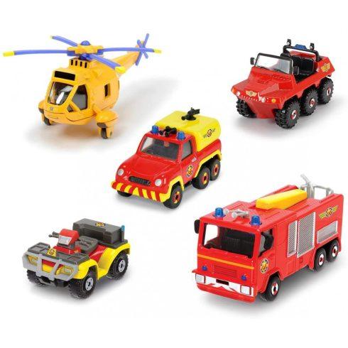 Dickie Toys Sam, a tűzoltó - Mentő járművek 5 db-os készletben (203094002038)
