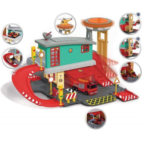 Dickie Toys Sam, a tűzoltó - Tűzoltó állomás Jupiter tűzoltóautóval (203097003038)