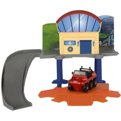 Dickie Toys Sam, a tűzoltó - Mini vízimentő állomás Hydrus kétéltű járgánnyal (203099618038)