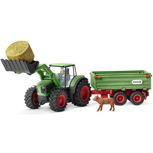 Schleich 42379 Traktor pótkocsival