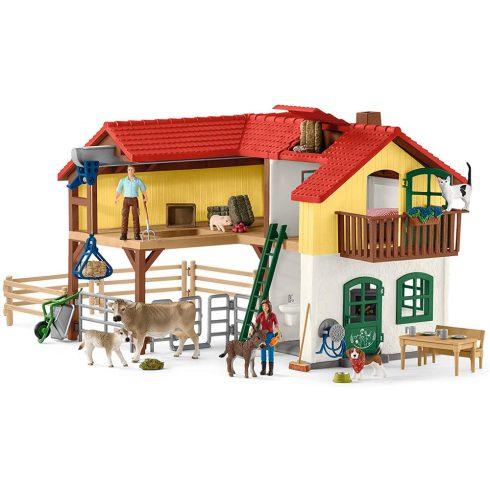 Schleich 42407 Farm ház istállóval és állatokkal