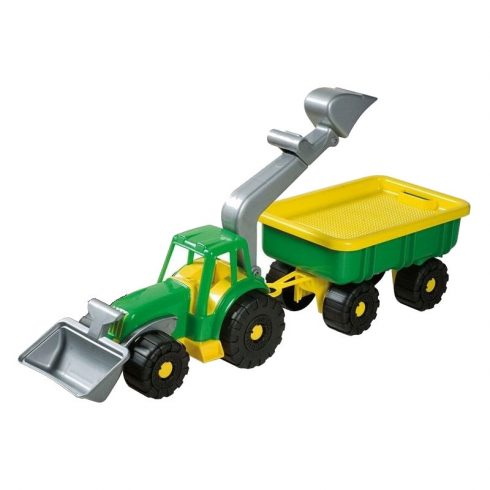 Simba Toys Androni - Homokozó markoló utánfutóval 50cm - zöld (107134118)