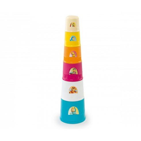 Smoby Cotoons 110405 Mágikus csészerakosgató torony
