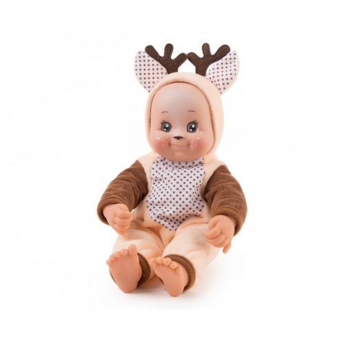Smoby 210121 Minikiss, a puszit adó játékbaba szarvasos ruhában 30cm