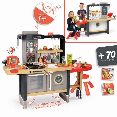 Smoby 312303 Chef Corner 2 az 1-ben játékkonyha és étterem