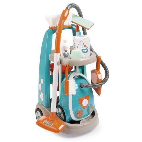 Smoby 330309 Játék gurulós takarítókocsi porszívóval