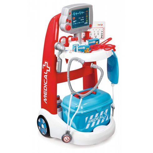 Smoby 340202 Játék gurulós orvosi kocsi szívmonitorral