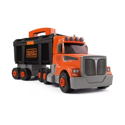 Smoby 360175 Black & Decker játék kamion szerszámosládával