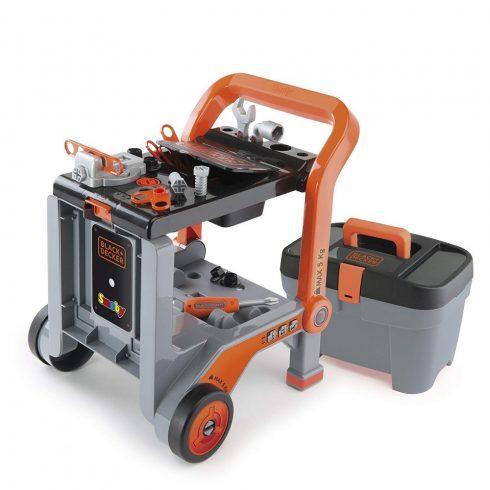 Smoby 360202 Black & Decker játék szerelőkocsi szerszámosládával és szerszámokkal