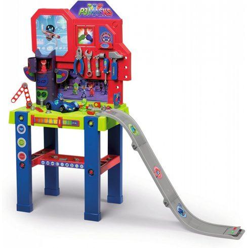 Smoby 360717 Pizsihősök Bricolo Center játék szerelőasztal ugratóval és 94db kiegészítővel