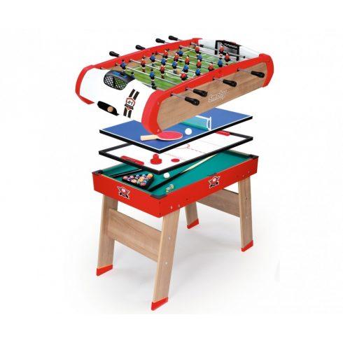 Smoby 640001 PowerPlay 4 az 1-ben fa multifunkciós játékasztal