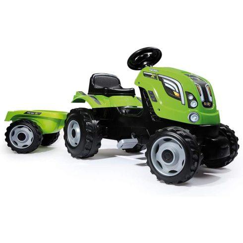 Smoby 710111 Farmer XL pedálos traktor utánfutóval