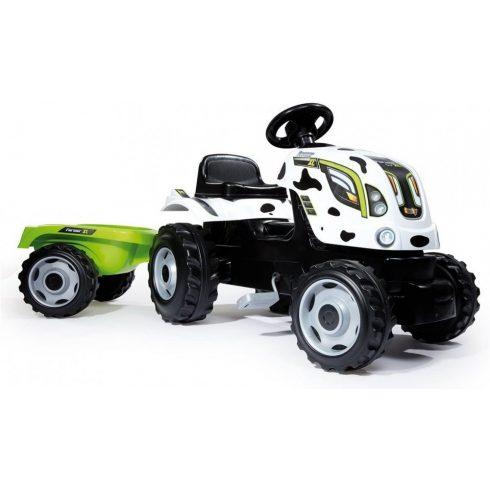 Smoby 710113 Farmer XL pedálos traktor utánfutóval