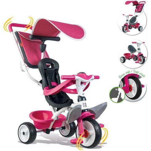 Smoby 741101 Baby Balade pedálos fém tricikli napellenzővel