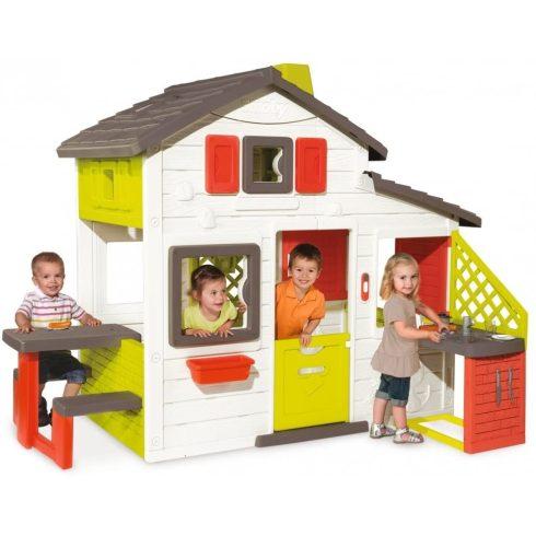 Smoby 810200 Kerti ház konyhával és csengővel