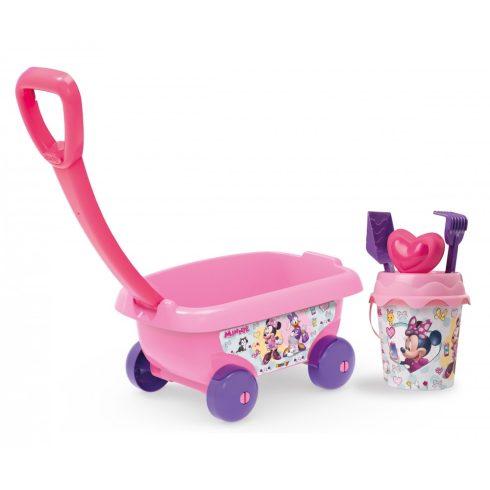 Smoby 867002 Minnie homokozó szett kiskocsival