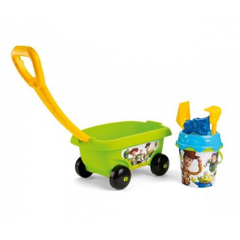 Smoby 867010 Toy Story homokozó szett kiskocsival