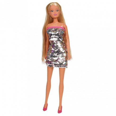Steffi Love - Steffi barbie baba ezüst színű flitteres ruhában (105733366)