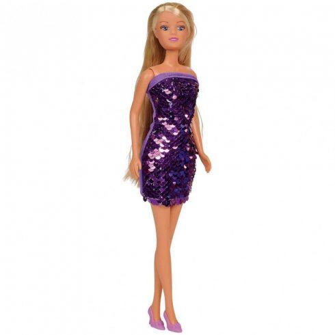 Simba Toys Steffi Love - Steffi baba lila színű flitteres ruhában (105733366)