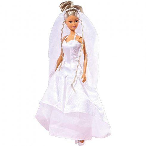 Simba Toys Steffi Love - Steffi baba szatén szoknyás esküvői ruhában (105733414)