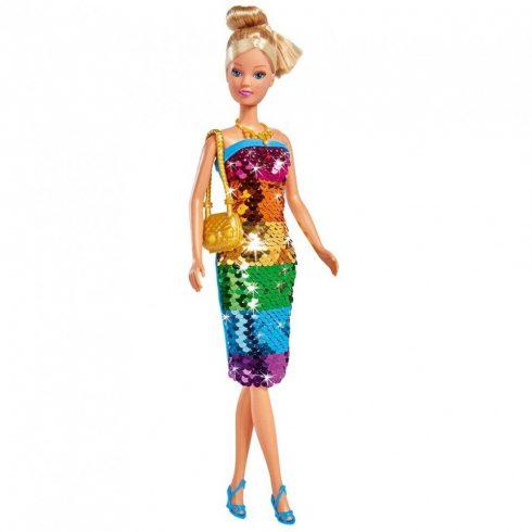 Simba Toys Steffi Love - Steffi baba szivárványszínű flitteres ruhában (105733448)