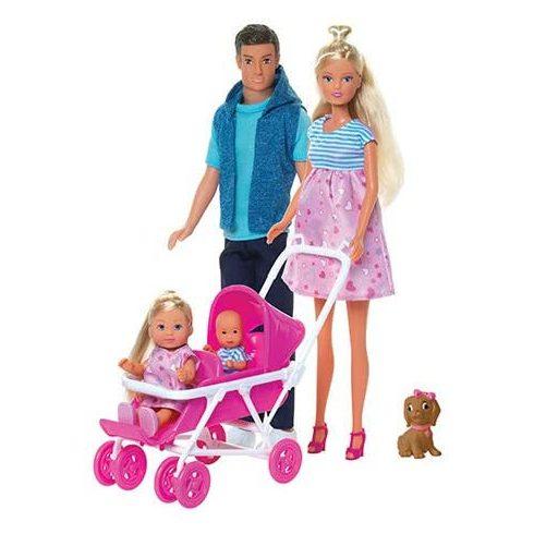 Simba Toys Steffi Love - Terhes Steffi és Kevin baba gyerekeikkel (105733426)
